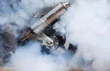 moto qui fume